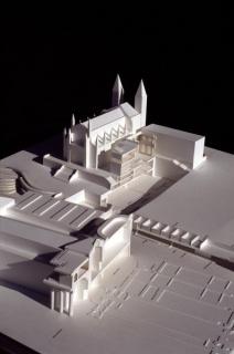 Maqueta de contexto, Ampliación del Museo del Prado, Madrid, España, 1998-2007. Rafael Moneo. Cortesía Fundación Barrié
