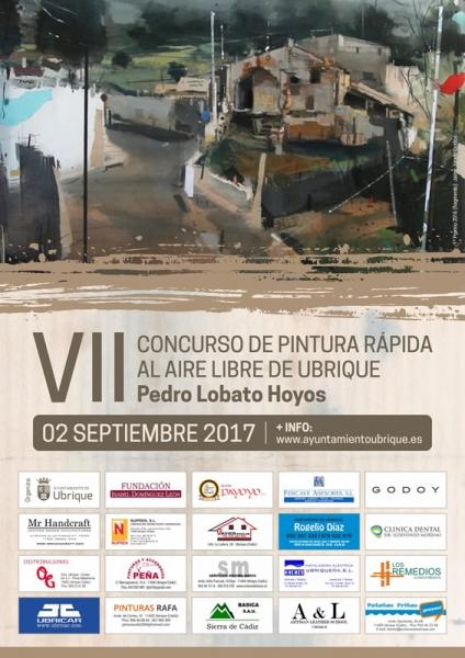 Cartel VII Concurso de Pintura Rápida de Ubrique