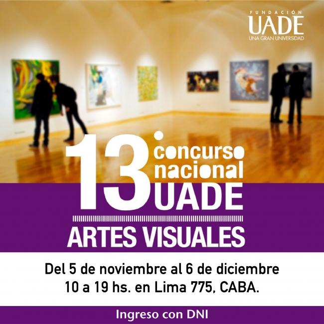 Exposición 13º Concurso Nacional UADE de Artes Visuales.