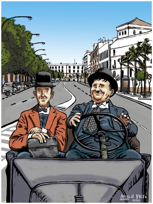 Angel Olivera, Laurel y Hardy — Cortesía de la Galería Benot