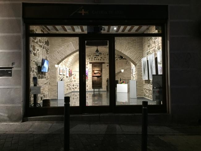 Vista exterior de la exposición en la galería