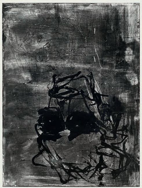Georg Baselitz. Devotion, Rothko I, 2018 Grabado al aguatinta, 85.6 x 65.2 cm. — Cortesía de Arte Madrid