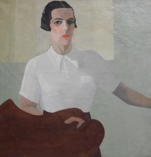 Petrona Viera, Autorretrato. Óleo sobre tela, 91 x 87 cm. — Cortesía del Museo Nacional de Artes Visuales