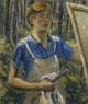 Lee Krasner, Autorretrato (Self-Portrait), c. 1928. Óleo sobre lienzo, 76,5 x 63,8 cm. The Jewish Museum, Nueva York  © The Pollock-Krasner Foundation. Cortesía del Jewish Museum, Nueva York