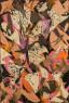 Lee Krasner. Águila calva (Bald Eagle), 1955. Collage de óleo, papel y lienzo sobre lino. 195,6 x 130,8 cm. Colección de Audrey Irmas, Los Ángeles © The Pollock-Krasner Foundation. Fotografía de Jonathan Urban