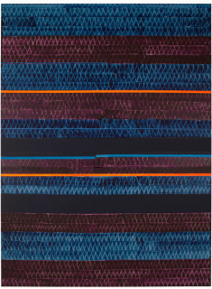 Juan Uslé. Soñé que revelabas (Madeira), 2019. Acrylic, vinyl, pigments and dispersion on canvas. 305 x 227 cm. — Cortesía de la Galeria Joan Prats