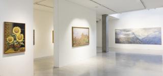 Panorámica de la exposición Gonzalo Ariza - Interprete de la naturaleza