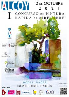I Concurso Pintura rápida al aire libre Alcoy