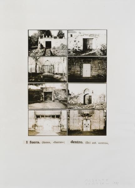 Alberto Corazón, Itinerae, 1975, fotografía sobre papel, 152 x 110 cm.