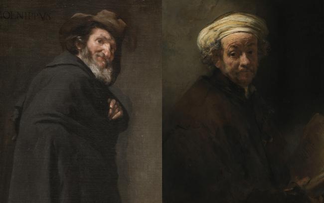 PAREJA 3: 3A. Menipo Diego Velázquez (1599-1660) Óleo sobre lienzo, 179 x 94 cm h. 1638 Madrid, Museo Nacional del Prado 3B. Autorretrato como el apóstol san Pablo Rembrandt van Rijn (1606-69) Óleo/lienzo, 91 x 77 cm 1661 Ámsterdam, Rijksmuseum Amsterdam