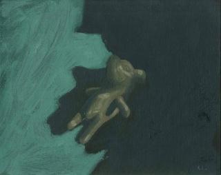 Coco González Lohse, Neoecología, 2020, Óleo sobre cartón entelado, 12 x 15 cm