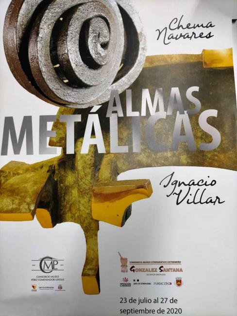 """Cartel exposición """"Almas Metálicas"""""""