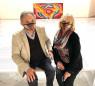 Adriana y el coleccionista y mecenas Mario Saslovsky