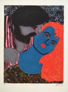 Maripaz Jaramillo, LUNA LLENA, 1987, serigrafia, Ed. P/A, 76 x 56 cm. 30 x 22 in. — Cortesía de NH Galeria