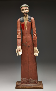 Juan Ramón Velásquez, Our Father Jesus the Nazarene, late 19th century, carved wood, gesso, paint, leather, and canvas, Dallas Museum of Art, gift of Mr. and Mrs. Stanley Marcus, 1961.44 — Cortesía del Dallas Museum of Art