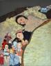 Maya Hewitt, Heartmade Shelter, 2020, Oil and acrylic on canvas, 130 x 100 cm — Cortesía la Galería Marta Cervera