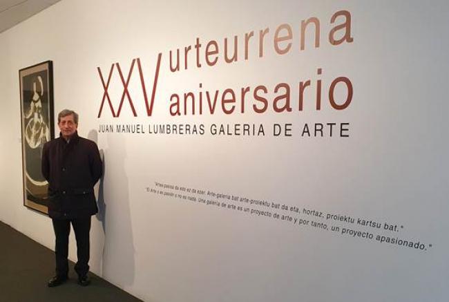 """Inauguración de la exposición """"XXV aniversario. Juan Manuel Lumbreras Galería de Arte"""" — Cortesía de Juan Manuel Lumbreras Galería de Arte"""
