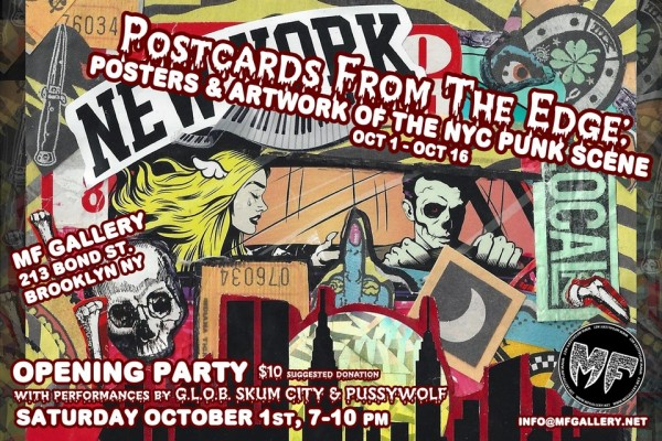 Postcards From The Edge: Posters And Artwork Of The NYC Punk Scene