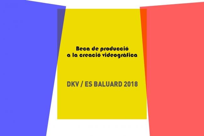 5ª Beca de producción a la creación videográfica DKV/Es Baluard 2018