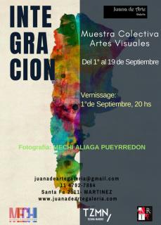 INTEGRACION, apertura: 1° de Septiembre, 20 hs
