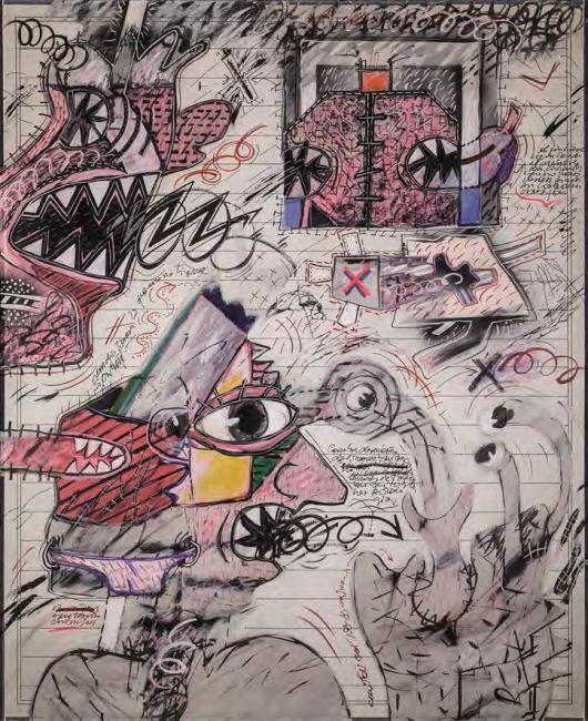 Sergio Abraín, Mirada Perdida, 1979. Acrílico sobre lienzo, 102 x 82 Colección Ramón Acín Fanlo — Cortesía del Ayuntamiento de Zaragoza