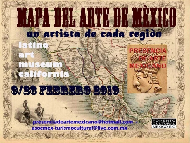 Map of the Art of Mexico.
