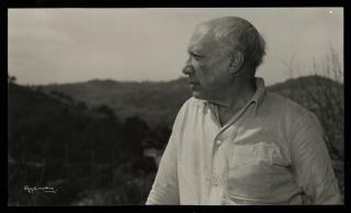 Juan Gyenes, Picasso, vivía de perfil retirado del mundo…. 1954 — Cortesía de la Comunidad de Madrid