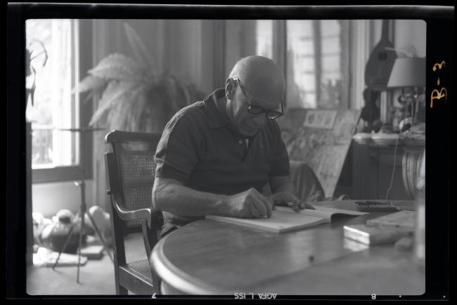 Juan Gyenes. …Y otra vez el trabajo, 1958  — Cortesía de la Comunidad de Madrid