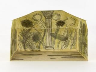 El Paraíso Perdido, 2011, graphite on paper, wax, 15.5 (h)x21(w)x11(d) cm. Cortesía de Wooson Gallery