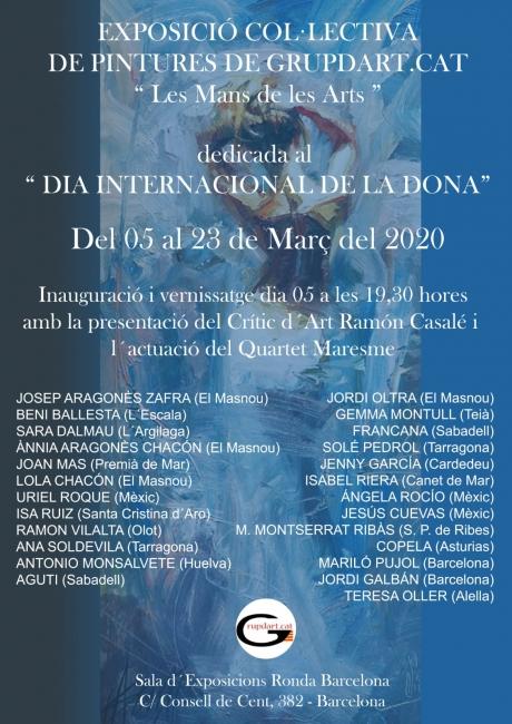 Exposició Col·lectiva de pintures de Grupdart. cat LES MANS DE LES ARTS