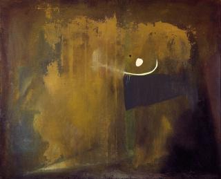 Antoni Tàpies, Ocre-gris, 1953. Óleo sobre tela, 130 × 162 cm. Fundació Antoni Tàpies, Barcelona — Cortesía de la Fundació Antoni Tàpies