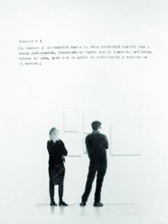 Jorge Marín, Consejos para ver una obra de arte, 2011-2014. Lápiz y máquina de escribir sobre papel. Serie de 10 piezas, 21 x 27 cm. c/u