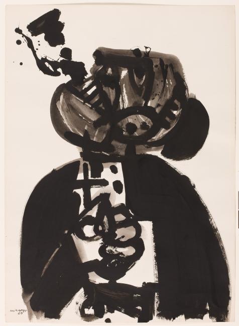 Serie Los curas, 1963 © Manolo Millares. VEGAP, Santander, 2019 — Cortesía del Centro Botín