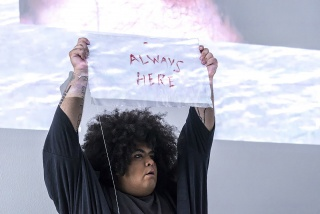 Jota Mombaça, How old is suffering?, 2018. Performance. Photo: Anna Cerato.