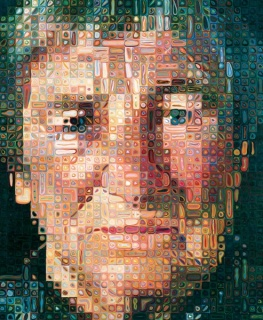 Obra de Chuck Close. Cortesía del SFMOMA