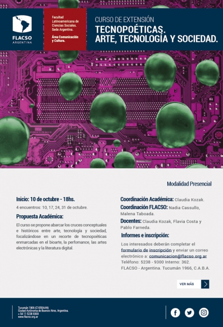 Tecnopoéticas. Arte, Tecnología y Sociedad. Imagen cortesía Flacso