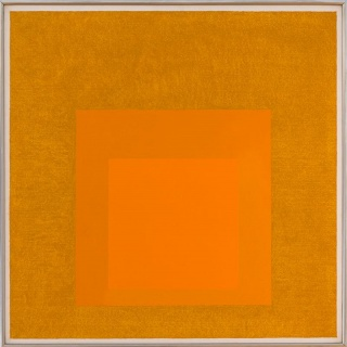 Josef Albers Homage to the Square: Golden, 1957. Oil on Masonite. 32 x 32 in (81.3 x 81.3 cm). Cortesía Edelman Arts