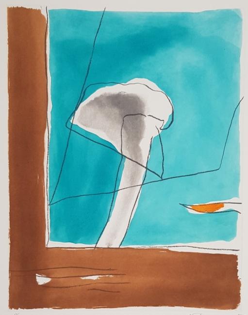 Albert Ràfols-Casamada, Brisa 1, 1993, grabado al aguafuerte y aguatinta, 77 x 57 cm. Edición 60 ejemplares — Cortesía de la galería Acanto