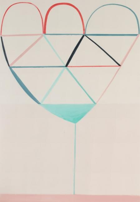 Sabine Finkenauer. Flor, 2019. Acrlico sobre tela. 180x130 cm. — Cortesía de Arte Madrid