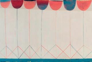 Sabine Finkenauer. Jardín, 2019 Acrílico sobre tela, 240 x 160 cm. — Cortesía de Arte Madrid