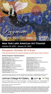 Invitación inauguración Trienal de Arte Latinoamericano Nueva York, E. U.