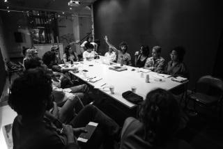 Voces en acción. Fotografía de Carlos Agrazal. Cortesía de Casa Santa Ana