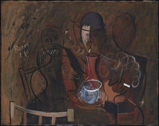 Image 1 / 5   Francisco Bores, Samedi soir, 1928, Óleo sobre lienzo, 73 x 92 cm