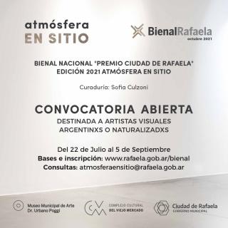 """9ª Bienal Nacional """"Premio Ciudad de Rafaela"""" Edición 2021 Atmósfera en sitio"""