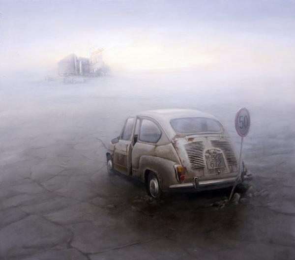Norberto, Lost Paradies. Óleo sobre tabla entelada 162 x 150 cm.