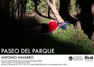 Cartel Antonio Navarro Paseo del Parque