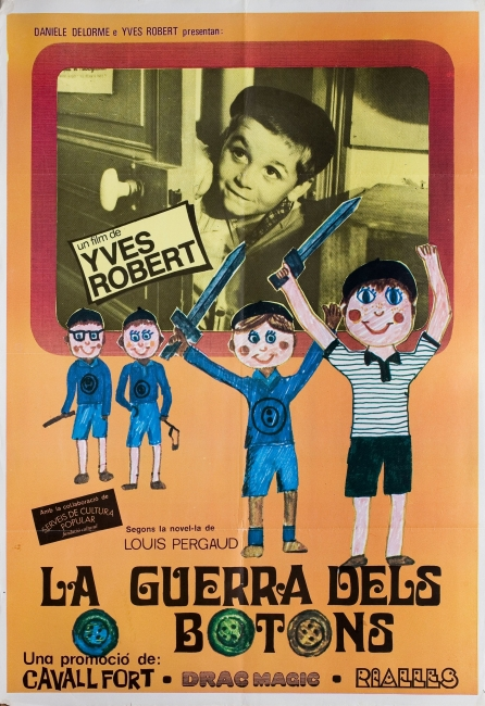 Cartel La Guerre des botons, 1962. Yves Robert