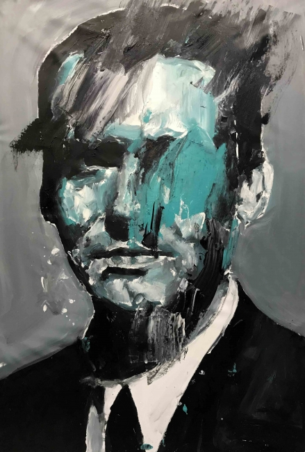 """Ganador 33º Premio BMW de Pintura: Santiago Ydáñez, """"Retrato fallido de Lorca"""" — Cortesía de BMW Group"""