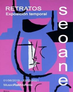 """Cartel de la exposición """"SEOANE. Retratos"""""""