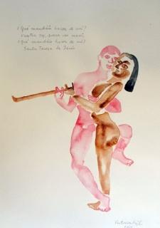 Victoria Gil. ¿Qué mandáis hacer de mí? Acuarela, 2012, 36x25 cm. Obra única — Cortesía de Fotmato Cómodo
